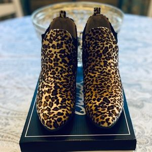 Leopard Print Booties by Qupid